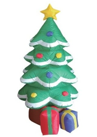 Inflatable christmas tree with Christmas gifts underneath #christmasdecorations #christmasinflatables