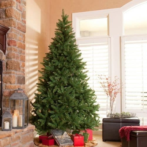 Classic Pine Full Unlit Christmas Tree - Best Fake Christmas Trees