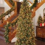 GKI Bethlehem Lighting Pre-Lit 6.5 ft Christmas Tree with 400 Clear Mini lights