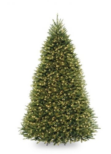 National Tree Company 9-Feet Dunhill Fir Tree with 900 Clear Lights