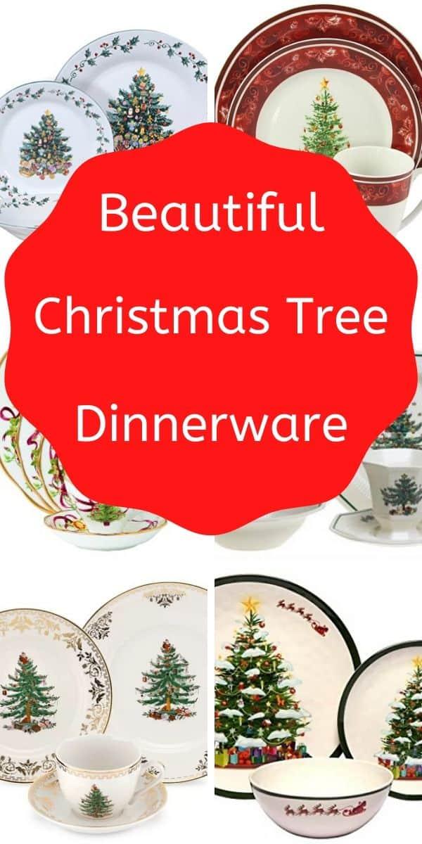 Beautiful Christmas Tree Dinnerware