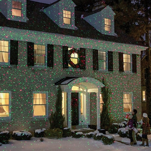 Elf light laser show house projector absolute christmas for Projecteur led exterieur noel