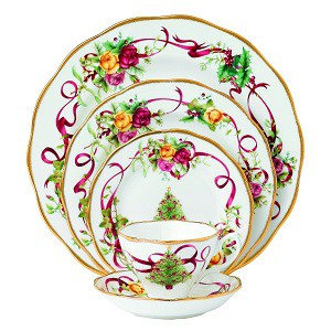 Old Country Roses Christmas Tree Place Setting