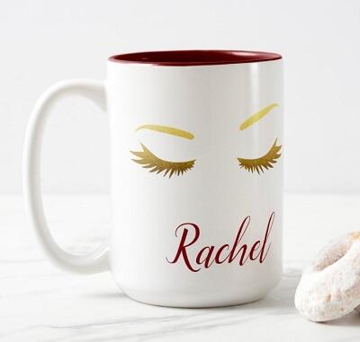 Sas and Lashes Two-Tone Coffee Mug