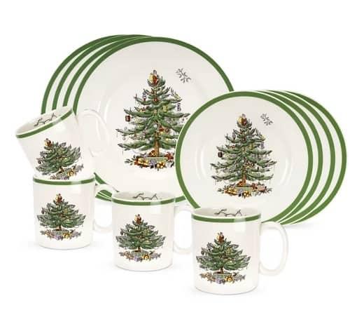 Spode Christmas Tree Dinnerware Set