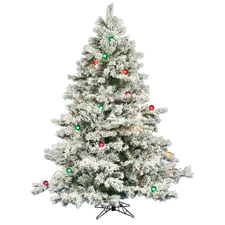 Best Flocked Fake Christmas Trees 2017 Absolute Christmas