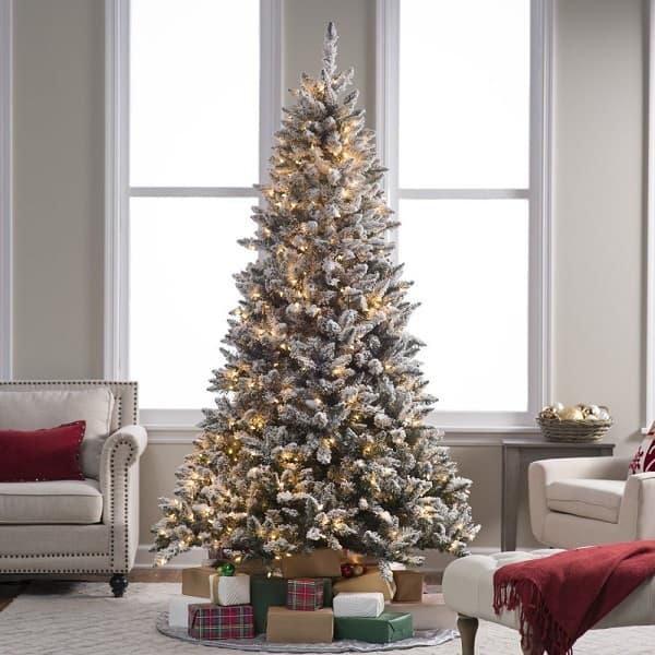 Best flocked fake christmas trees absolute