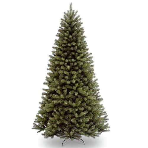 National Tree 7.5 ft North Valley Spruce Tree, Hinged