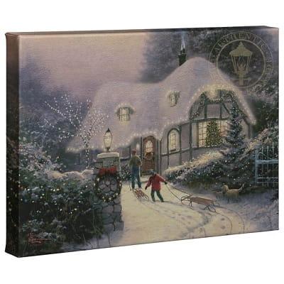 Thomas Kinkade Christmas Cottage Homecoming Canvas