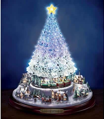 Thomas Kinkade Christmas Tree With Lights, Motion And Music