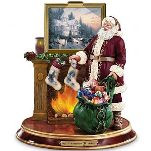 Thomas Kinkade Illuminated Santa Claus Tabletop Figurine