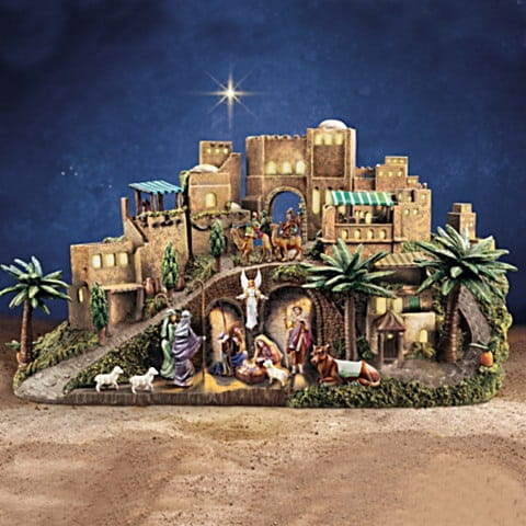 Thomas Kinkade Nativity Set