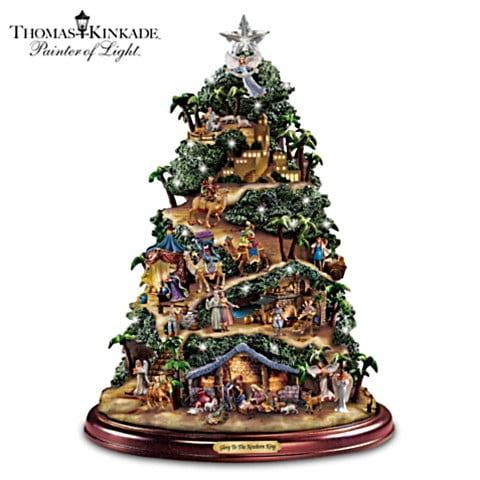 Thomas Kinkade Nativity Tree