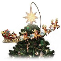 Thomas Kinkade Revolving Christmas Tree Topper