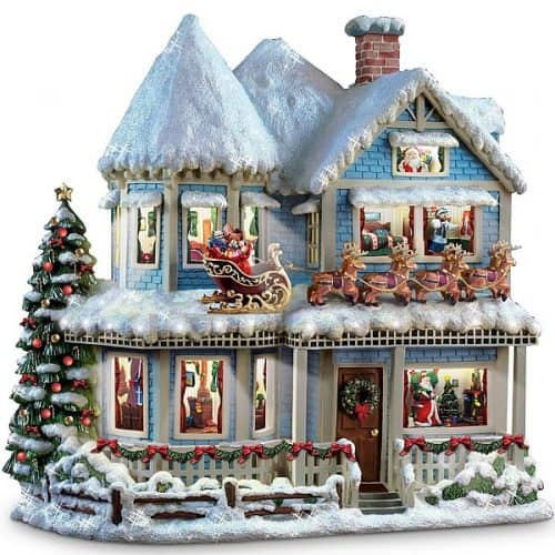 Thomas Kinkade 'Twas The Night Before Christmas Story House - Beautiful!