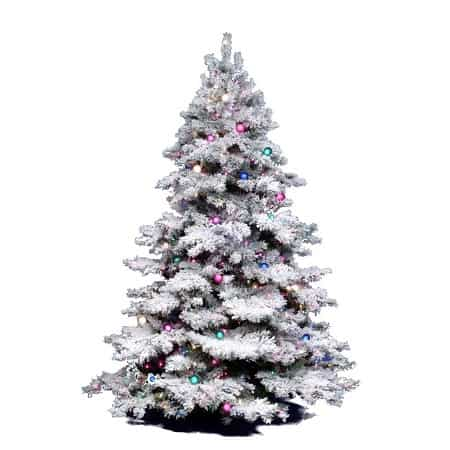 Flocked Fake Christmas Trees