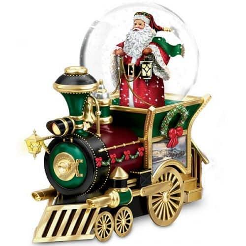thomas kinkade snow globe train