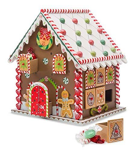 Gingerbread House Advent Calendar - Wooden Christmas Advent Calendars