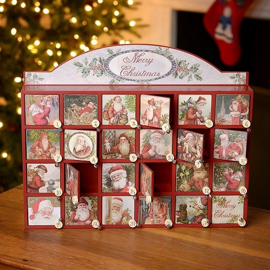 Top 10 Wooden Christmas Advent Calendars 2017 - Absolute Christmas