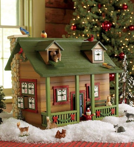 wooden cabin advent calendar