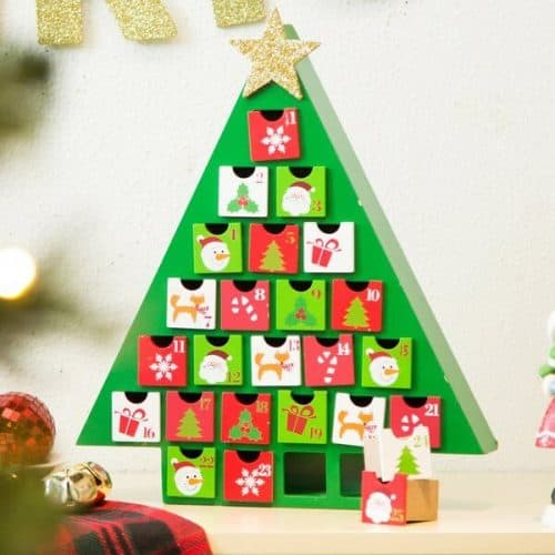 Wooden Tree Count Down Calendar
