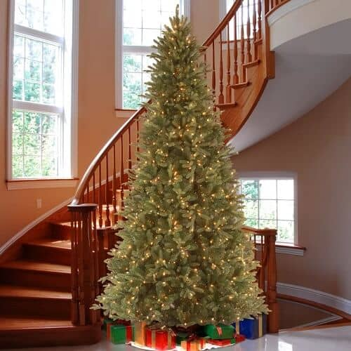 12 ft Feel-Real Tiffany Fir Green Tree with 1200 Clear Lights