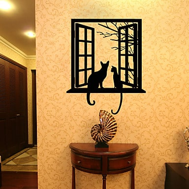 3D Cat Wall Decal - Have coffee with these cats every morning just staring out the window! | Cat Themed Gift Ideas #CatGifts