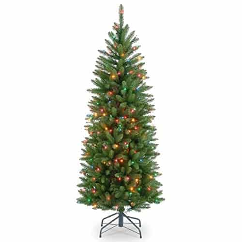 4.5ft Pre-Lit Slim Kingswood Fir Tree - Pencil Slim Christmas trees