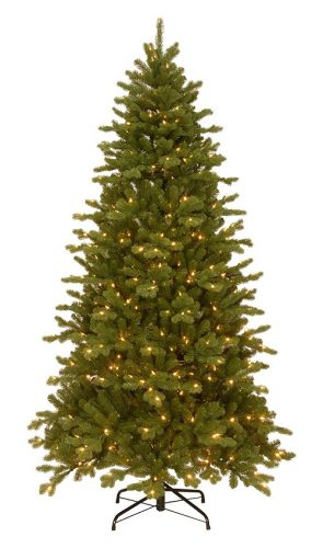 7.5 Ft Feel Real Sheridan Spruce Memory-Shape Tree with 550 Dual Color LED Lights - Here's a realistic looking Christmas tree you cn set up in 5 minutes!