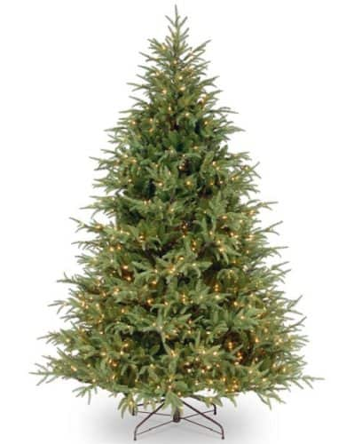 7.5ft Feel-Real Frasier Grande Hinged Tree with 1000 Clear Lights