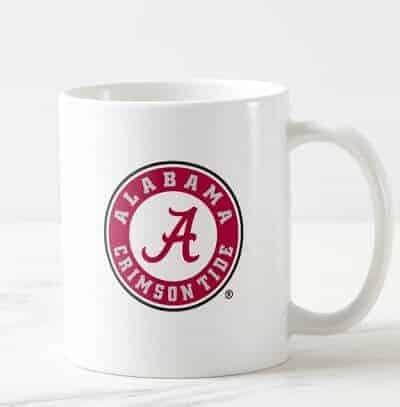 Alabama Crimson Tide Circle Coffee Mug - Basketball Gifts