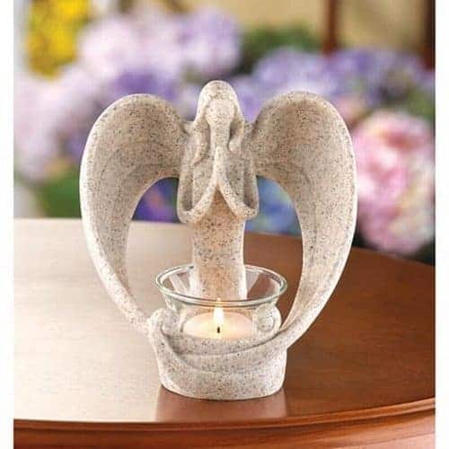 Angel Tea Light Candle Holder - Peaceful and Serene!