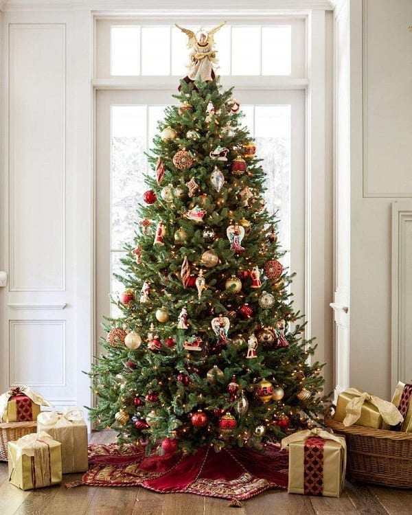 Balsam Hill Fir Premium Artificial Christmas Tree, 7.5 Feet, Unlit