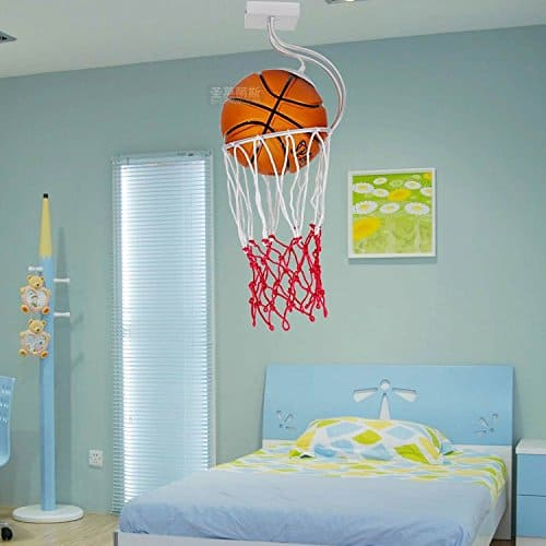 Basketball Ceiling Light - Great basketball gift idea for a man cave or kid's bedroom