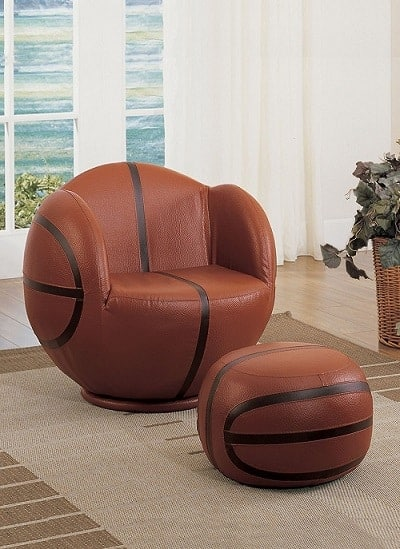Basketball Chair and Ottoman set