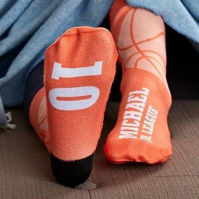 Basketball Personalized Kids Socks