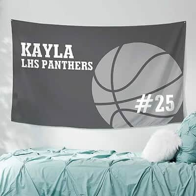 Basketball Personalized Wall Tapestry