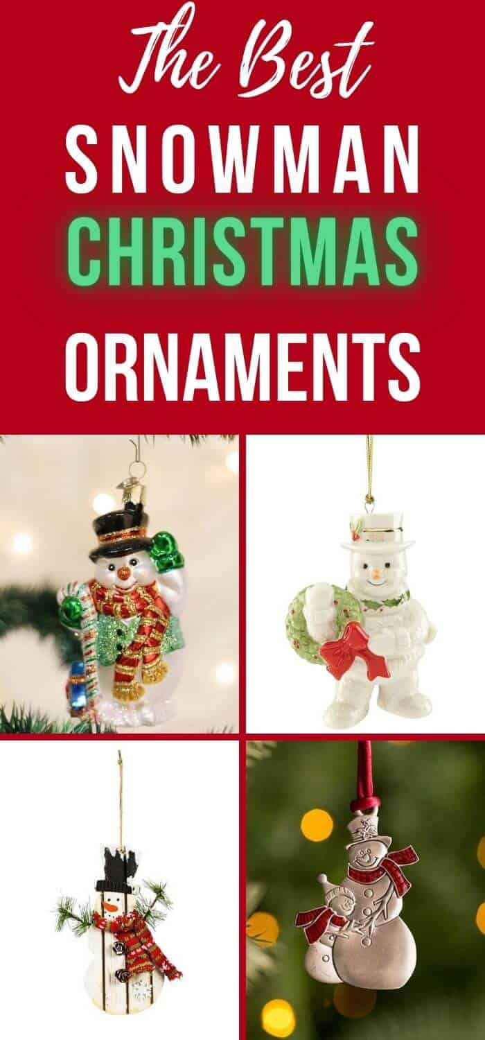 Best Snowman Christmas Ornaments