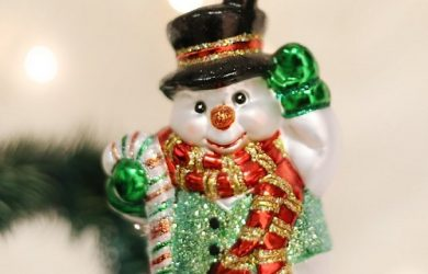 Candy Cane Snowman Ornament - Beautiful ornament from Old World Christmas