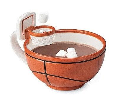 Coffee Mug with a Basketball Hoop