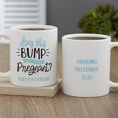 Does This Bump Make Me Look Pregnant Personalized Coffee Mug