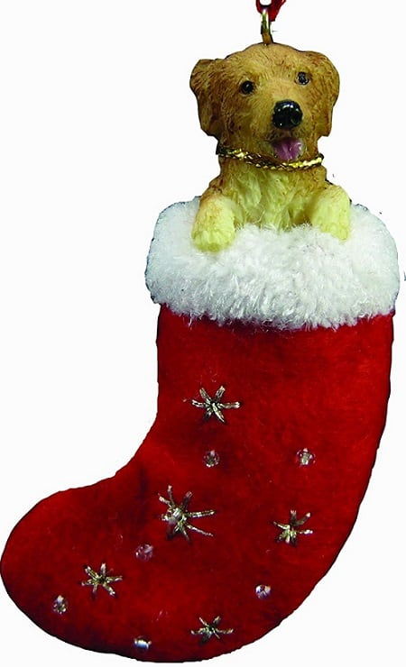 Golden Retriever Christmas Stocking Ornament - Cute Christmas ornament for Dog lovers