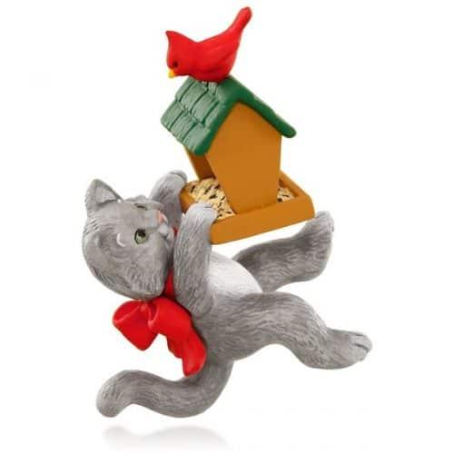 hallmark 2015 mischievous kittens with bird feeder ornament