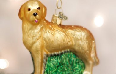 Hand Crafted Golden Retriever Christmas Ornament