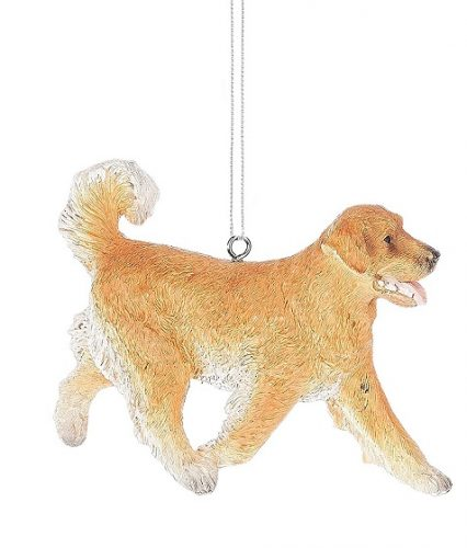 Happy Golden Retriever Christmas Ornament
