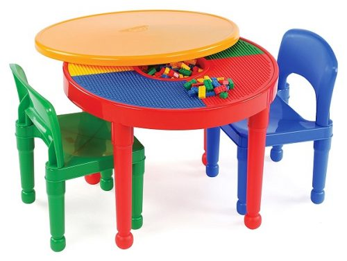 LEGO Activity Table and 2 Chairs - Great gift for kid age 3+