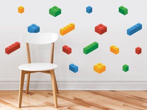 Lego Building Blocks Fabric Wall Decals