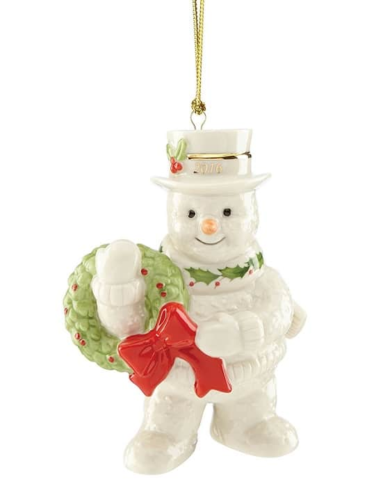 Lenox 2016 Snowman Christmas Ornament - Beautiful collectible ornament by Lenox