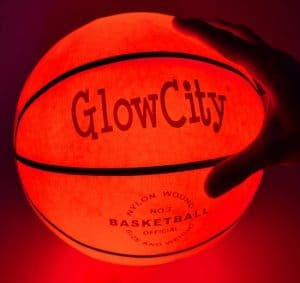 Light Up Basketball - glow in the dark basketball. Uses LED lights to light up!