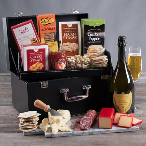 Luxury Gourmet Gift Basket with Dom Perignon | Luxury Gourmet Gifts for Women